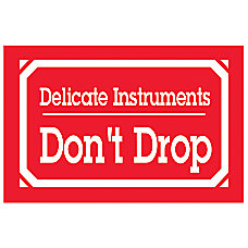 Preprinted Shipping Labels Delicate Instruments Handle