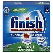 Finish Powerball Dishwasher Detergent Tabs Fresh