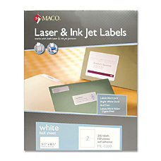 Maco White Inkjet All Purpose Shipping