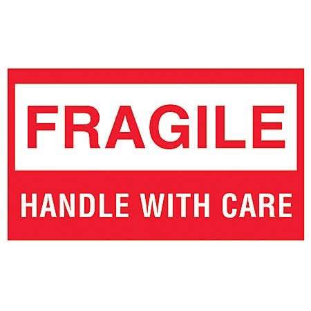 Tape Logic Preprinted Shipping Labels Fragile Fragile ...