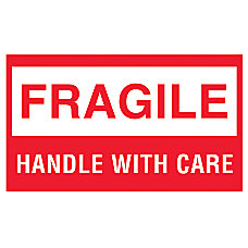 Preprinted Shipping Labels Fragile Fragile Handle