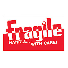 Preprinted Shipping Labels Fragile Handle With