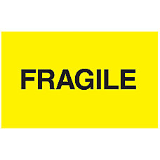 Preprinted Shipping Labels Fragile 5 x