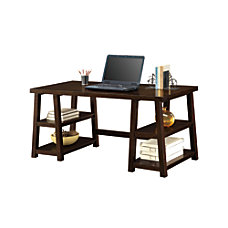 Whalen Triton Double Pedestal Desk Walnut