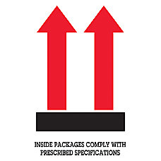 Preprinted Shipping Labels Arrow Inside Packages