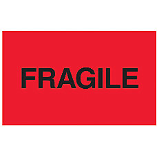 Preprinted Shipping Labels Fragile 3 x