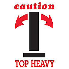 Preprinted Shipping Labels Arrow Caution Top