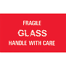 Preprinted Shipping Labels Fragile Glass Handle