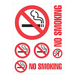 Cosco Sign Vinyl Decals No Smoking