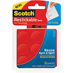 Scotch Restickable Mounting Dots Clear Circles