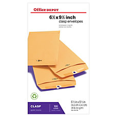 Office Depot Brand Clasp Envelopes 6