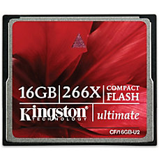 Kingston 16GB Ultimate CompactFlash Card 266x
