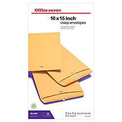 Office Depot Brand Clasp Envelopes 10