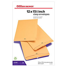 Office Depot Brand Clasp Envelopes 12