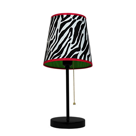 Limelights Fun Prints Funky Table Lamp 15 H Zebra