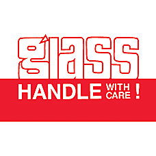 Preprinted Shipping Labels Glass Handle With