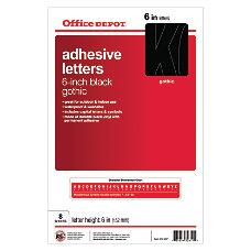 Stick On Vinyl Letters Helvetica Black