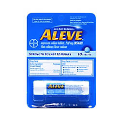 Aleve Pain Reliever 220 Mg Pack