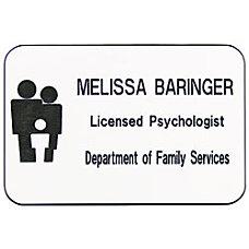 Custom Engraved Plastic Logo Name Badge