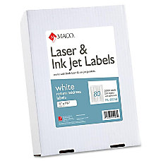 MACO White LaserInk Jet Return Address