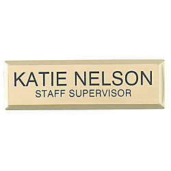 Engraved Metal Name Badge 34 x