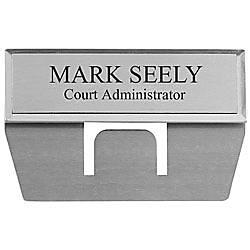 Engraved Metal Pocket Name Badge 34