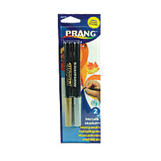 Prang Metallic Markers Bullet Point GoldSilver