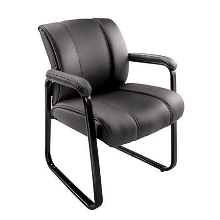 brenton studio bellanca guest chair black by office depot officemax