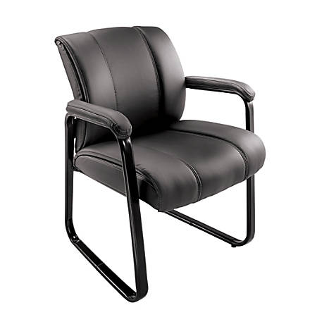 Brenton Studio Bellanca Guest Chair BlackChairs   Seating at Office Depot and OfficeMax. See Through Office Chairs. Home Design Ideas