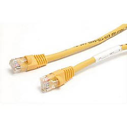 StarTechcom 25 ft Cat5e Yellow Snagless