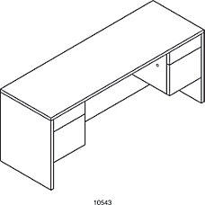 HON 10500 Series Kneespace Credenza 29