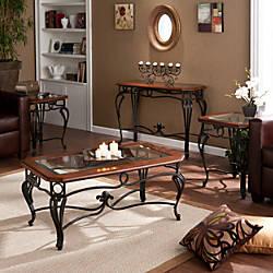 Southern Enterprises Prentice Tables Cherry Set