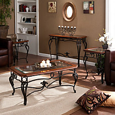 Southern Enterprises Prentice Tables Cherry Set