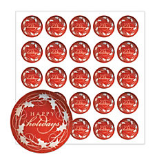 Holiday Seals Silver Happy Holidays Pack