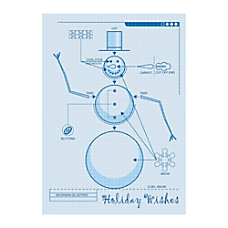 Sample Holiday Card Snowman Blueprint