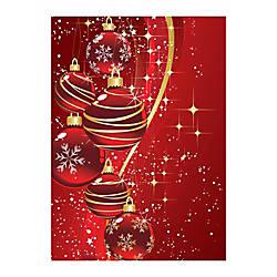 Sample Holiday Card Scarlet Snow