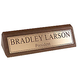 Engraved Desk Sign Engraved Letters With