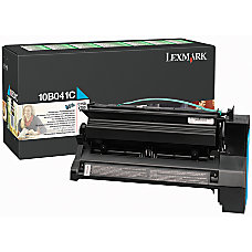 Lexmark 10B041C Return Program Cyan Toner