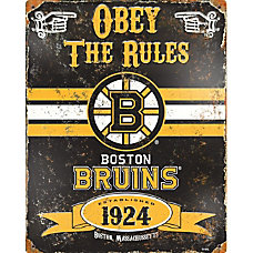 Party Animal Boston Bruins Embossed Metal