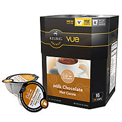 Café Escapes™ Milk Chocolate Hot Cocoa Vue™ Packs, 0.4 Oz., Box Of 16