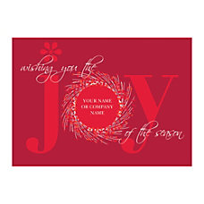 Sample Holiday Card Joy of the