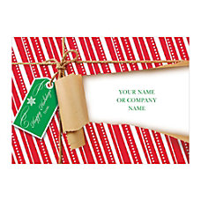 Sample Holiday Card Unwrapped Greeting