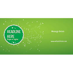 Custom Horizontal Banner Green Background