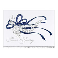 Sample Holiday Card Pine Cone Silver