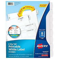 Avery Big Tab Printable Label Dividers