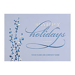 Sample Holiday Card Cheerful Blues