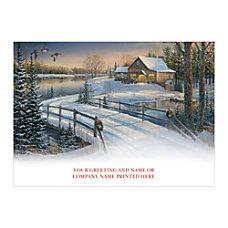 Sample Holiday Card Christmas Getaway