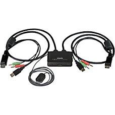 StarTechcom 2 Port USB DisplayPort Cable