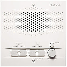 NuTone NRS200WH Intercom Sub Station