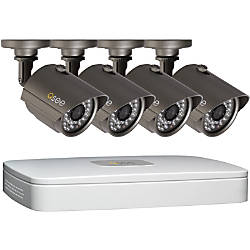 Q-See 4-Channel Surveillance System With 4 High-Resolution Cameras